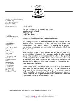 Civics for All Endorsement Letter from CPLE (Council on Public Legal Education)